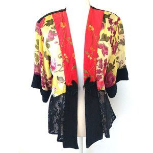 Spencer Alexis Art to Wear Embroidered Lace Blouse